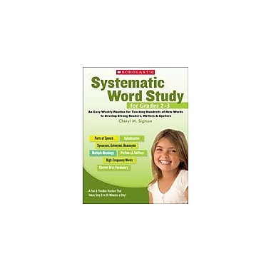 Scholastic Systematic Word Study for Grades 2-3 Reading & Writing Workbook, Grade 2 - Grade 3 [eBook]
