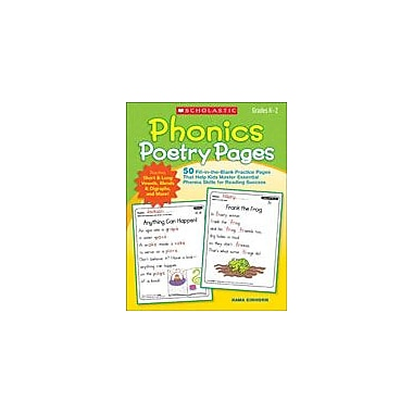 Scholastic Phonics Poetry Pages Reading & Writing Workbook, Kindergarten - Grade 2 [eBook]