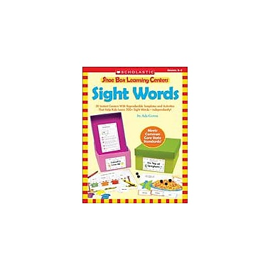 Scholastic Shoe Box Learning Centers: Sight Words Reading & Writing Workbook, Kindergarten - Grade 2 [eBook]