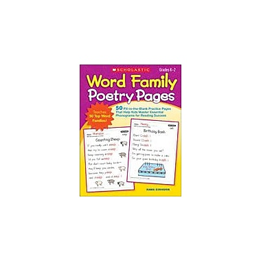 Scholastic Word Family Poetry Pages Reading & Writing Workbook, Kindergarten - Grade 2 [eBook]