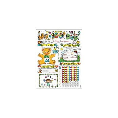 Scholastic Personal Poster Set: 100th Day Math Workbook, Preschool - Grade 2 [eBook]
