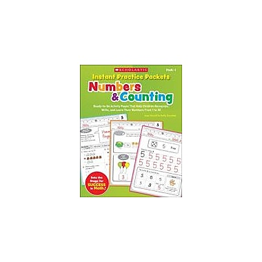 Scholastic Instant Practice Packets: Numbers and Counting Math Workbook, Preschool - Grade 1 [eBook]