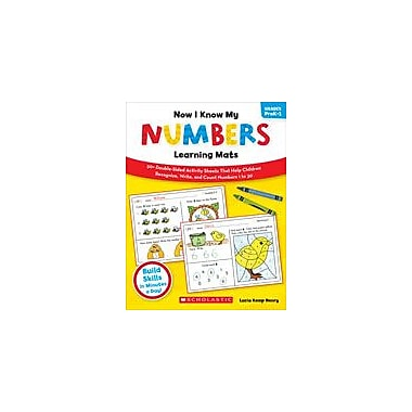 Scholastic Now I Know My Numbers Learning Mats Math Workbook, Preschool - Grade 1 [eBook]