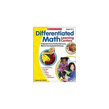 Scholastic Differentiated Math Learning Centers Math Workbook, Kindergarten - Grade 2 [eBook]