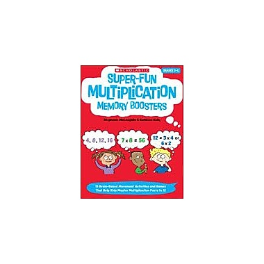 Scholastic Super-Fun Multiplication Memory Boosters Math Workbook, Grade 2 - Grade 5 [eBook]