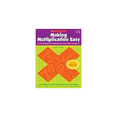Scholastic Making Multiplication Easy (2nd Edition) Math Workbook, Grade 2 - Grade 4 [eBook]