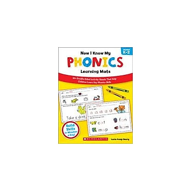 Scholastic Now I Know My Phonics Learning Mats Reading & Writing Workbook, Kindergarten - Grade 2 [eBook]