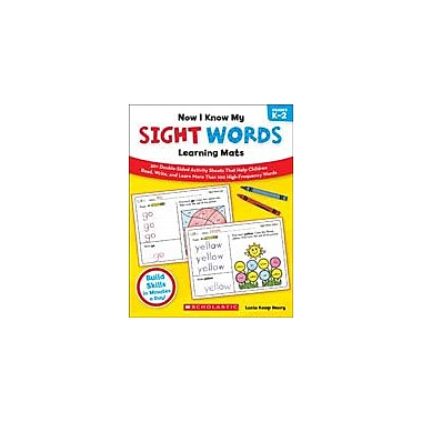 Scholastic Now I Know My Sight Words Learning Mats Reading & Writing Workbook, Kindergarten - Grade 2 [eBook]
