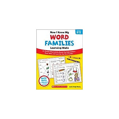 Scholastic Now I Know My Word Families Learning Mats Reading & Writing Workbook, Kindergarten - Grade 2 [eBook]