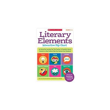 Scholastic Literary Elements Interactive Flip Chart Reading & Writing Workbook, Grade 3 - Grade 6 [eBook]