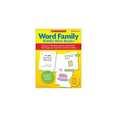 Scholastic Word Family Riddle Mini-Books Reading & Writing Workbook, Kindergarten - Grade 2 [eBook]