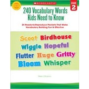 Scholastic 240 Vocabulary Words Kids Need To Know: Grade 2 Reading & Writing Workbook, Grade 2 [eBook]