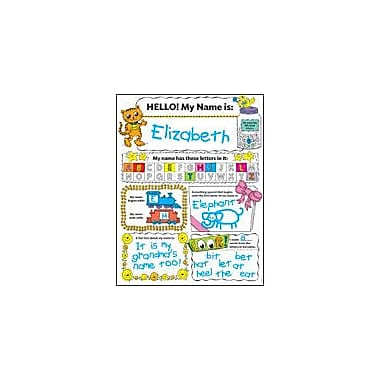 Scholastic Personal Poster: My Name Reading & Writing Workbook, Preschool - Grade 2 [eBook]