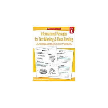 Scholastic Informational Passages for Text Marking & Close Reading: Grade 1 Reading & Writing Workbook, Grade 1 [eBook]
