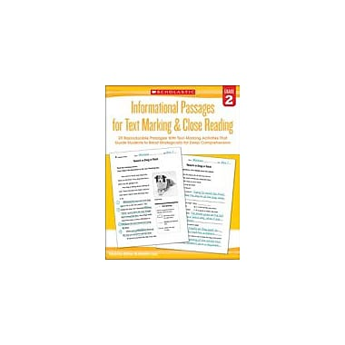Scholastic Informational Passages for Text Marking & Close Reading: Grade 2 Reading & Writing Workbook, Grade 2 [eBook]