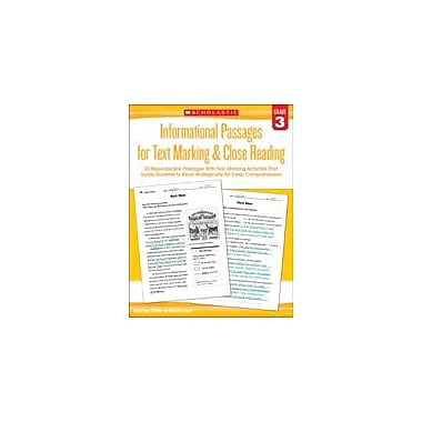 Scholastic Informational Passages for Text Marking & Close Reading: Grade 3 Reading & Writing Workbook, Grade 3 [eBook]