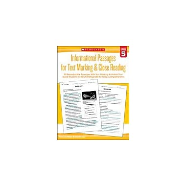 Scholastic Informational Passages for Text Marking & Close Reading: Grade 5 Reading & Writing Workbook, Grade 5 [eBook]