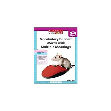 Scholastic Scholastic Study Smart Vocabulary Builder: Words With Multiple Meanings Level 3-4, Grade 3 - Grade 4 [eBook]