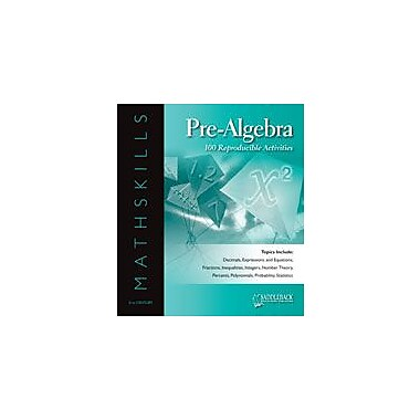 Saddleback Educational Publishing Mathskills Pre-Algebra Math Workbook, Grade 6 - Grade 12 [eBook]
