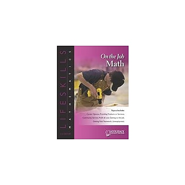 Saddleback Educational Publishing On the Job Math: Providing Support Or Service-Cross Numbers Workbook [eBook]
