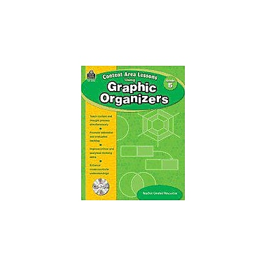 Teacher Created Resources Content Area Lessons Using Graphic Organizers: Grade 5 Geography Workbook, Grade 5 [Enhanced eBook]