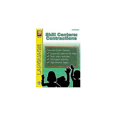 Remedia Publications Skill Centers: Contractions Language Arts Workbook, Grade 1 - Grade 3 [Enhanced eBook]