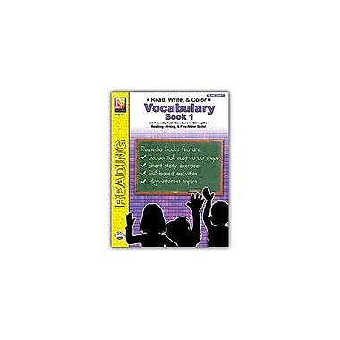 Remedia Publications Read, Write, and Color: Vocabulary 1 Reading & Writing Workbook, Grade 1 [eBook]