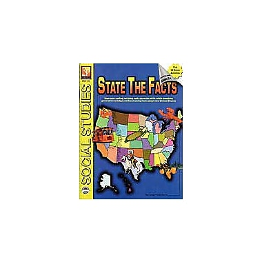 Remedia Publications State the Facts Geography Workbook, Grade 4 - Grade 8 [Enhanced eBook]