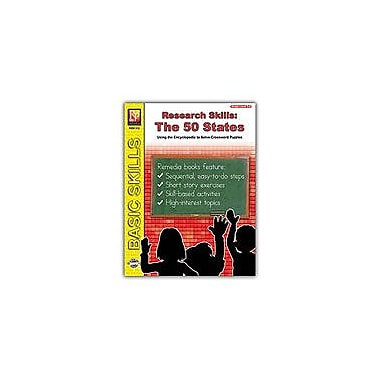 Remedia Publications Research Skills: the 50 States Geography Workbook, Grade 5 - Grade 8 [Enhanced eBook]