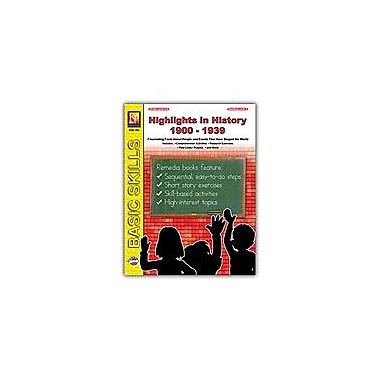 Remedia Publications Highlights In History: 1900-1939 History Workbook, Grade 5 - Grade 8 [Enhanced eBook]