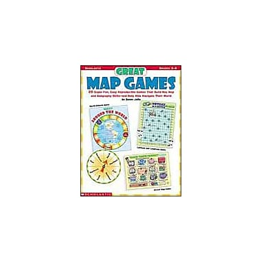 Scholastic Great Map Games Puzzles Workbook, Grade 3 - Grade 6 [Enhanced eBook]