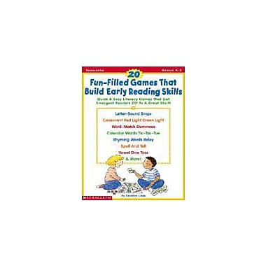 Scholastic 20 Fun-Filled Games That Build Early Reading Skills Puzzles Workbook, Kindergarten - Grade 2 [Enhanced eBook]