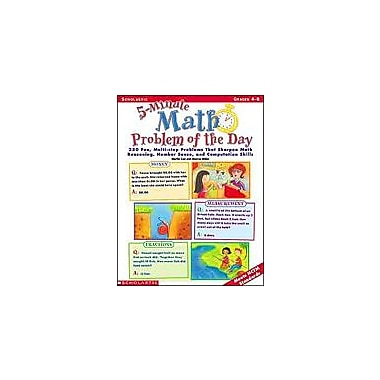Scholastic 5-Minute Math Problem of the Day Math Workbook, Grade 4 - Grade 8 [Enhanced eBook]