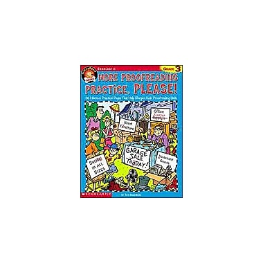 Scholastic Funnybone Books: More Proofreading Practice, Please Grammar Workbook, Grade 3 [Enhanced eBook]