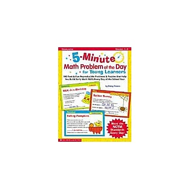 Scholastic 5-Minute Math Problem of the Day for Young Learners Problem Solving Workbook, Grade 1 - Grade 2 [Enhanced eBook]