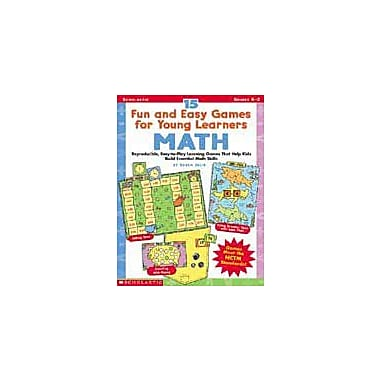 Scholastic 15 Fun and Easy Games for Young Learners: Math Problem Solving Workbook, Kindergarten - Grade 2 [Enhanced eBook]