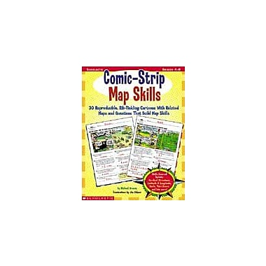 Scholastic Comic-Strip Map Skills Geography Workbook, Grade 4 - Grade 8 [eBook]