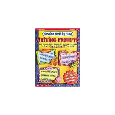Scholastic Marvelous Month-By-Month Writing Prompts Language Arts Workbook, Grade 2 - Grade 4 [eBook]