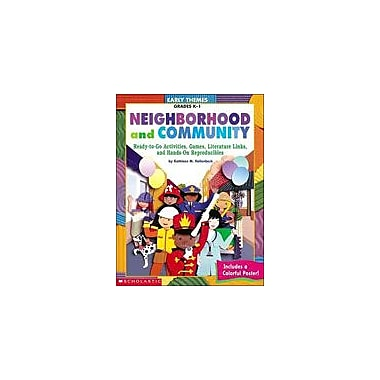 Scholastic Early Themes: Neighborhood and Community Math Workbook, Kindergarten - Grade 1 [Enhanced eBook]