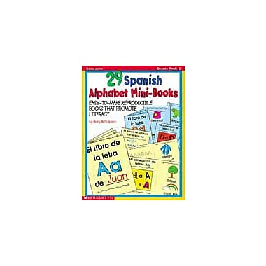Scholastic 29 Spanish Alphabet Mini-Books Language Arts Workbook, Preschool - Grade 1 [Enhanced eBook]