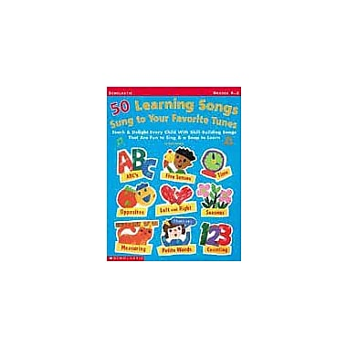 Scholastic 50 Learning Songs Sung To Your Favorite Tunes Art & Music Workbook, Kindergarten - Grade 2 [Enhanced eBook]