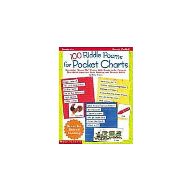 Scholastic 100 Riddle Poems for Pocket Charts Language Arts Workbook, Preschool - Grade 2 [eBook]