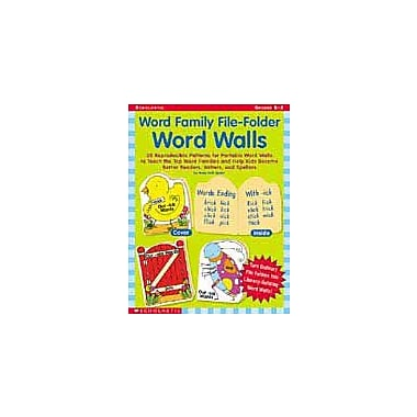Scholastic Word Family File-Folder Word Walls Language Arts Workbook, Kindergarten - Grade 2 [Enhanced eBook]