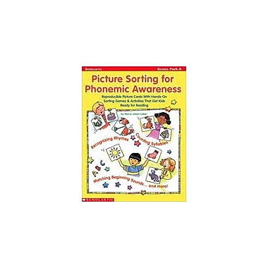 Scholastic Picture Sorting for Phonemic Awareness Puzzles Workbook, Preschool [Enhanced eBook]