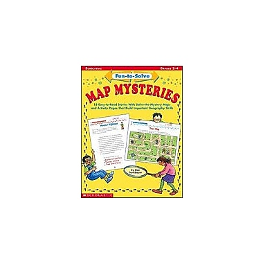 Scholastic Fun-To-Solve Map Mysteries Geography Workbook, Grade 2 - Grade 4 [Enhanced eBook]