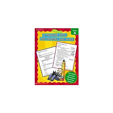 Scholastic 8 Practice Tests for Reading and Math Math Workbook, Grade 4 [eBook]