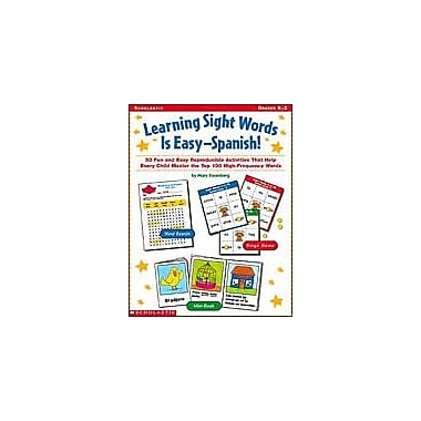 Scholastic Learning Sight Words Is Easy - Spanish! Puzzles Workbook, Kindergarten - Grade 2 [eBook]