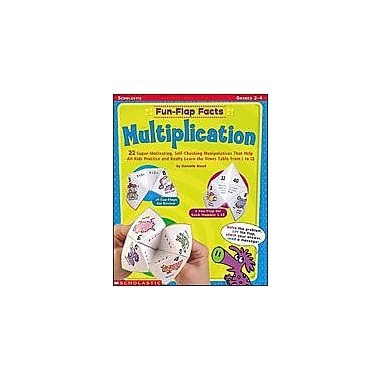 Scholastic Fun-Flap Facts: Multiplication Math Workbook, Grade 2 - Grade 4 [eBook]