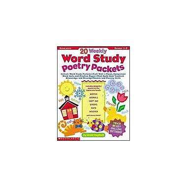 Scholastic 20 Weekly Word Study Poetry Packets Reading & Writing Workbook, Grade 1 - Grade 2 [Enhanced eBook]