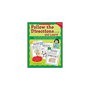 Scholastic Follow the Directions . . . and Learn! Grades: 2-3 Language Arts Workbook, Grade 2 - Grade 3 [Enhanced eBook]